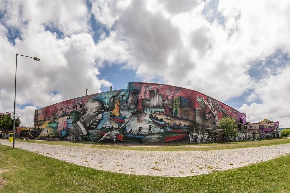 Mural homenaje a Benito Quinquela Martín