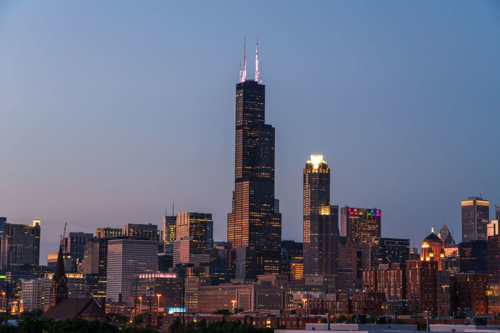 Willis Tower in the Chicago skyline