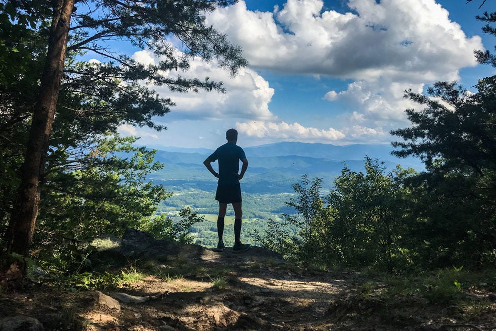 Appalachian Trail view in the Great Smoky Mountains