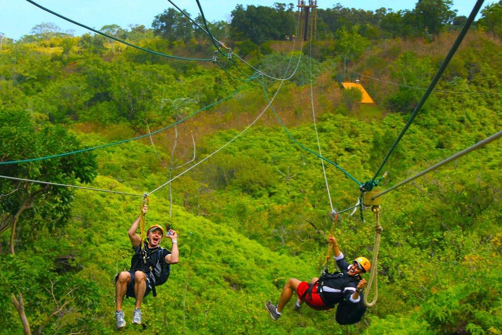 Zip line over Kauai