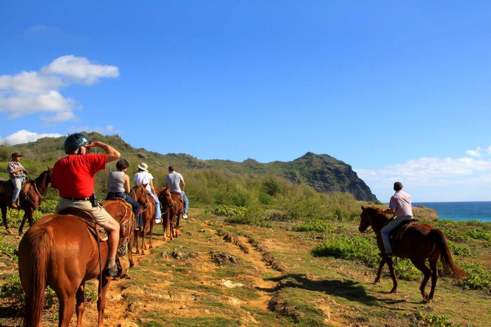 Horseback riding on Kauai's South Shore