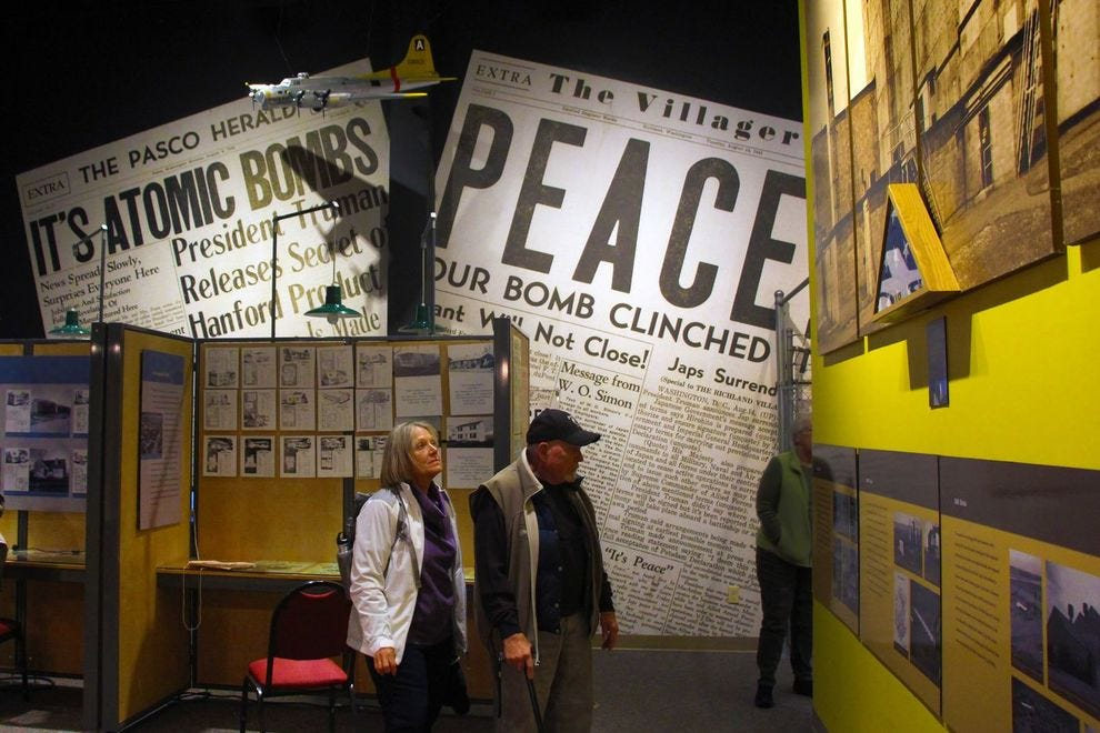 Atomic bomb exhibit at Reach Museum