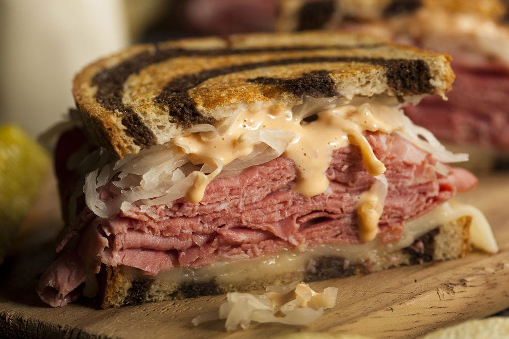 Toasted rye bread is the key ingredient to an excellent Reuben sandwich