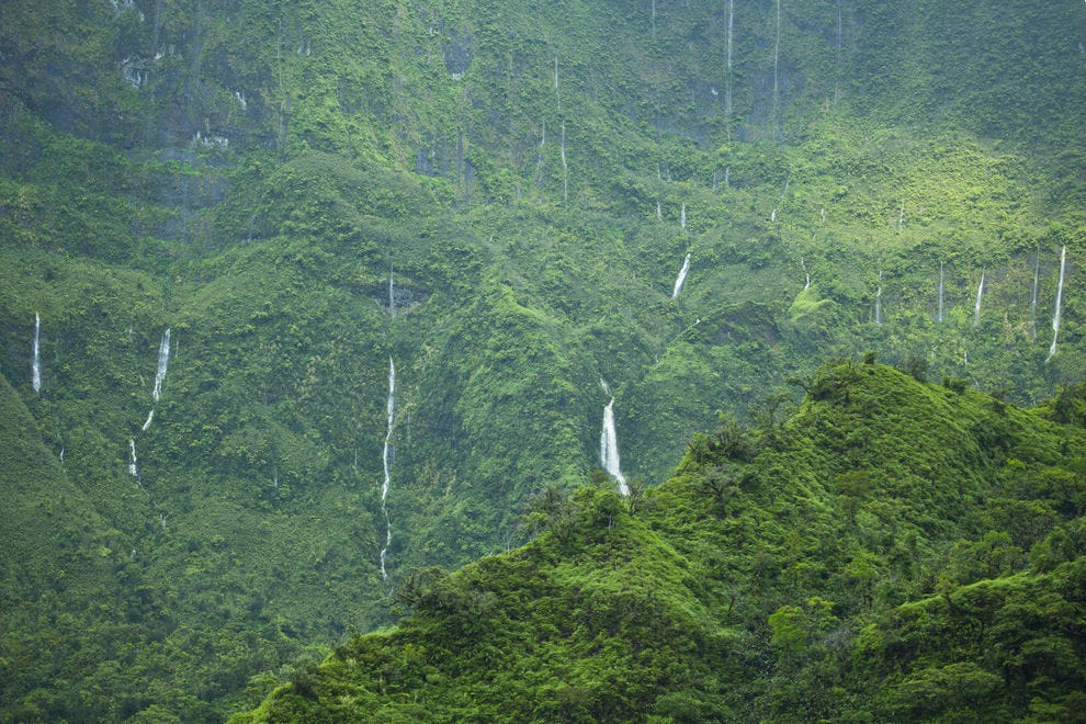 Waterfalls on Tahiti