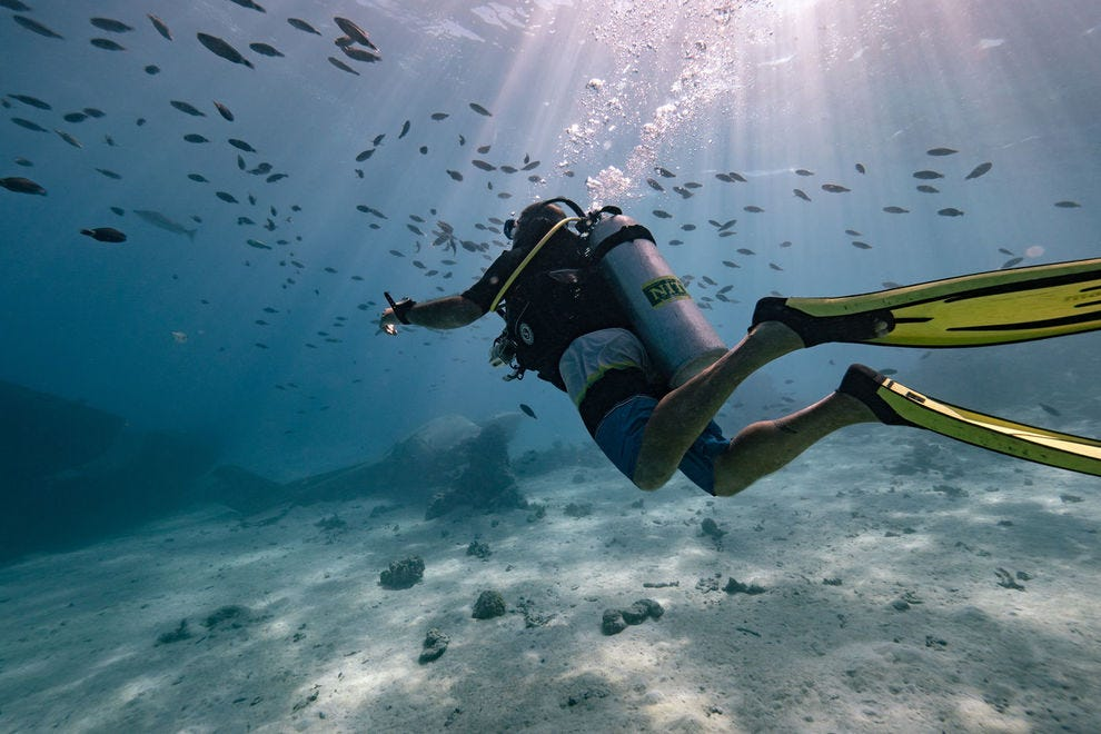 Diving in the Society Islands