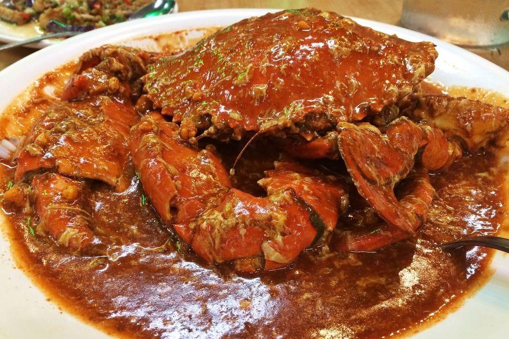 Singapore's signature chilli crab
