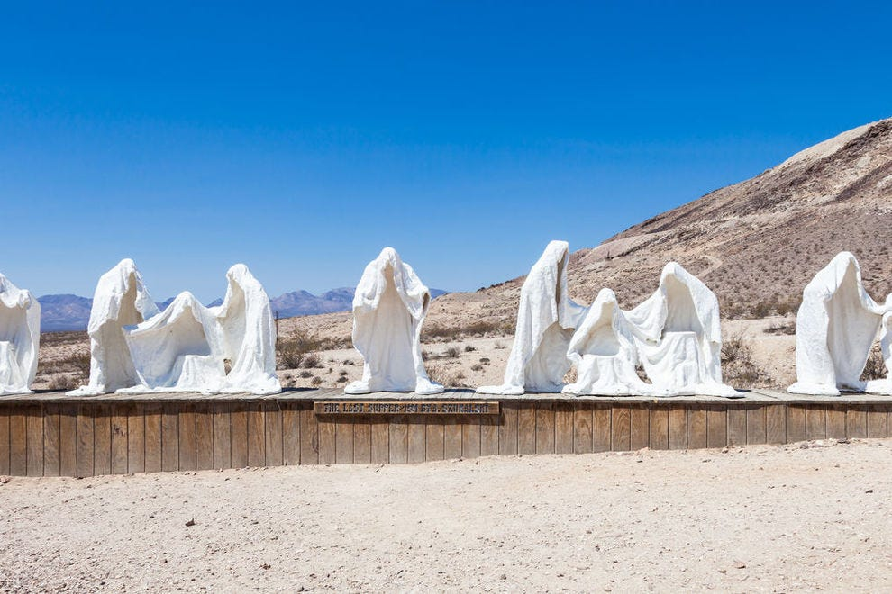 Ghostly figures at the Goldwell Open Air Museum
