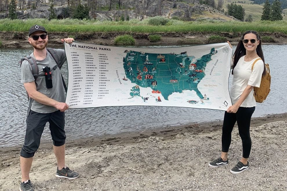 US Map Towel by Nomadix