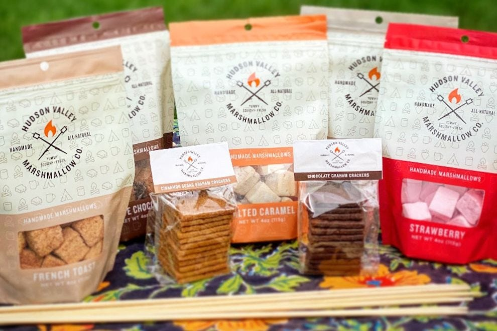 Gift basket from Hudson Valley Marshmallow Company