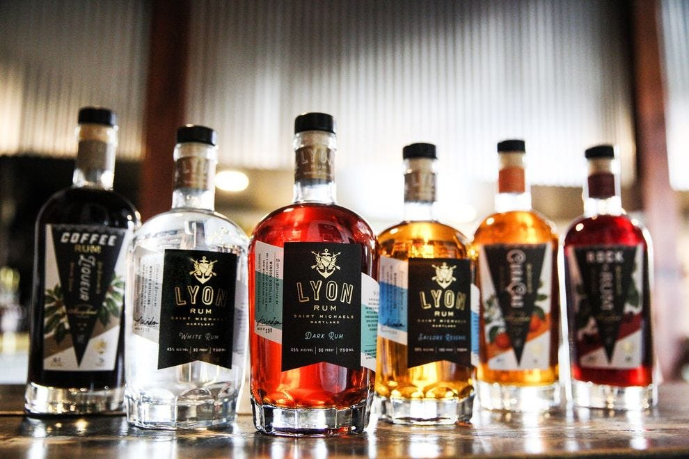 This Chesapeake Bay microdistillery makes their winning rum from Louisiana-grown sugarcane