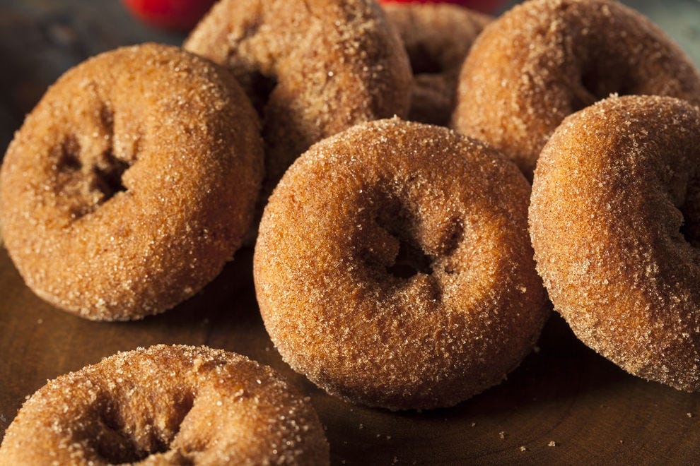 Apple cider doughnuts are best served warm