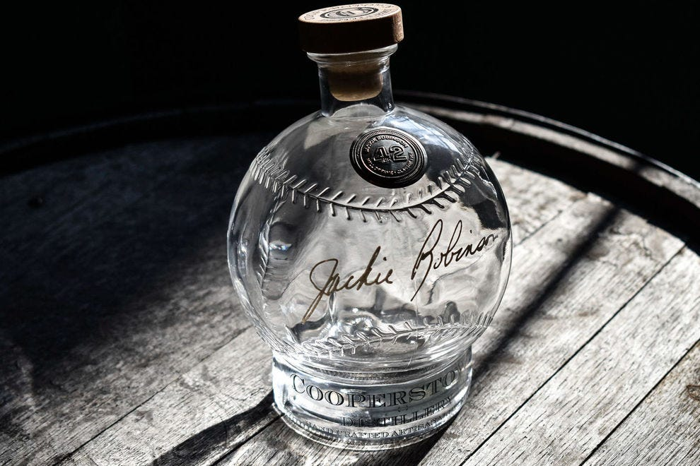 Baseball decanter from Cooperstown Distillery