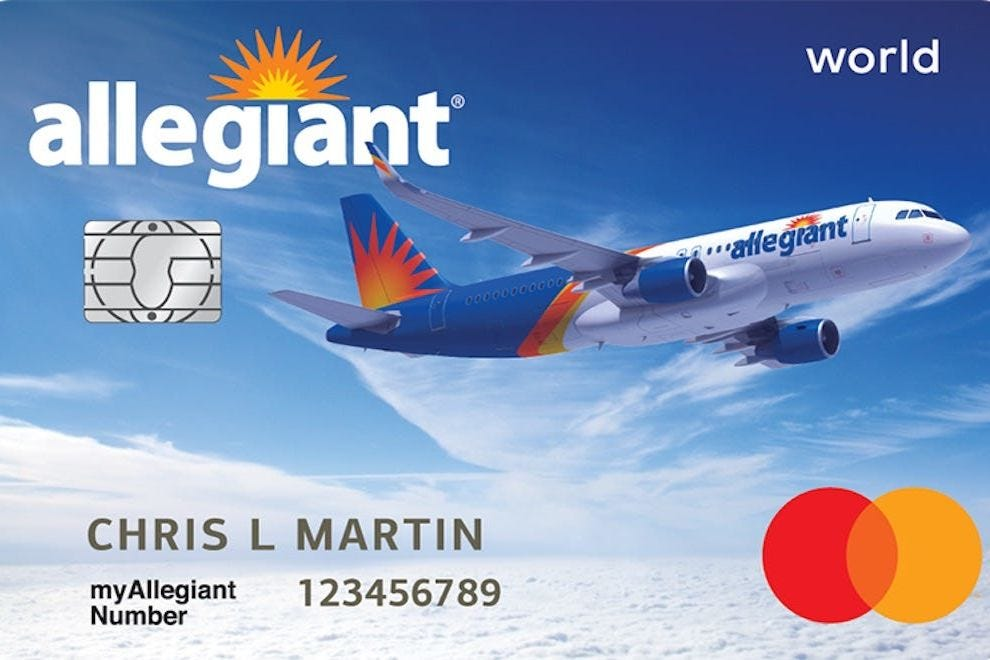 Frequent Allegiant flyers earn three points per dollar on many travel purchases