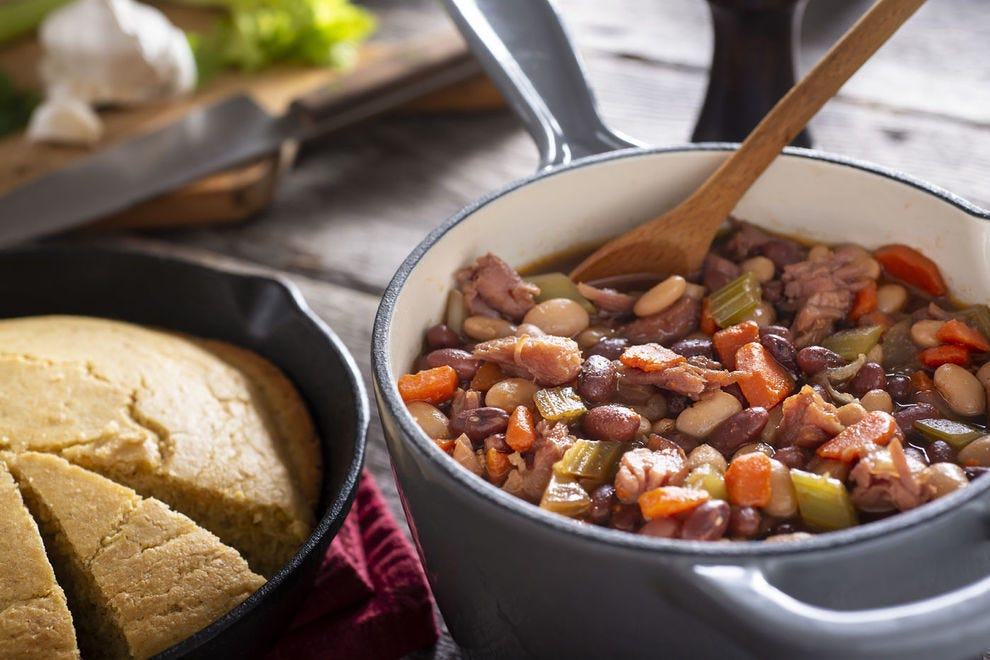 Cornbread and soup