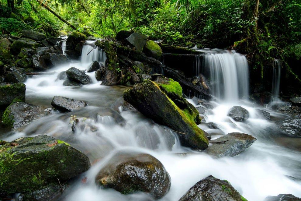 Waterfall in La Amistad