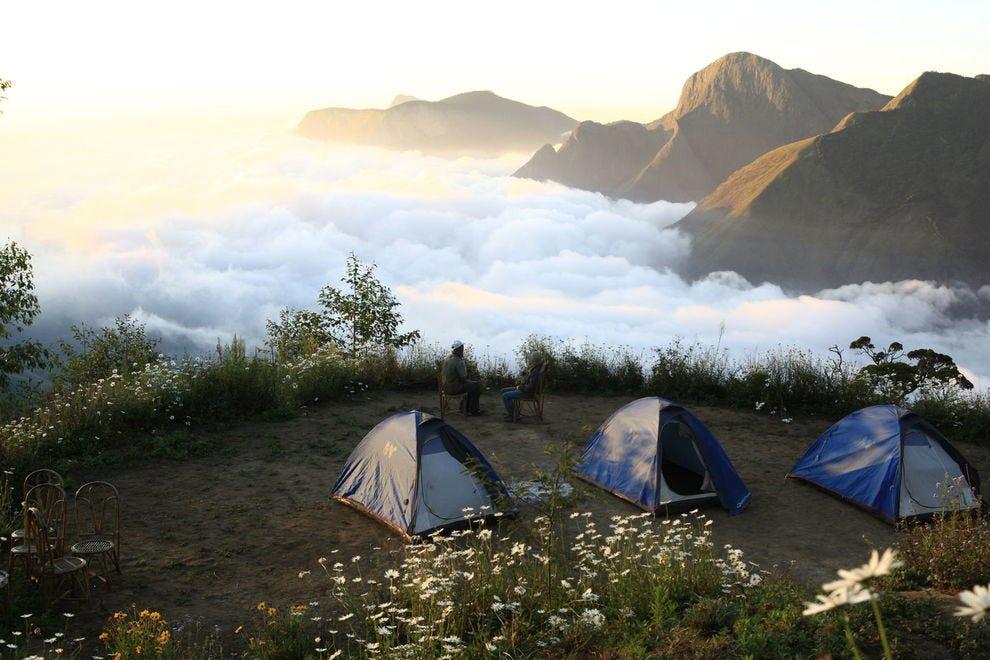 Tents at Top Station