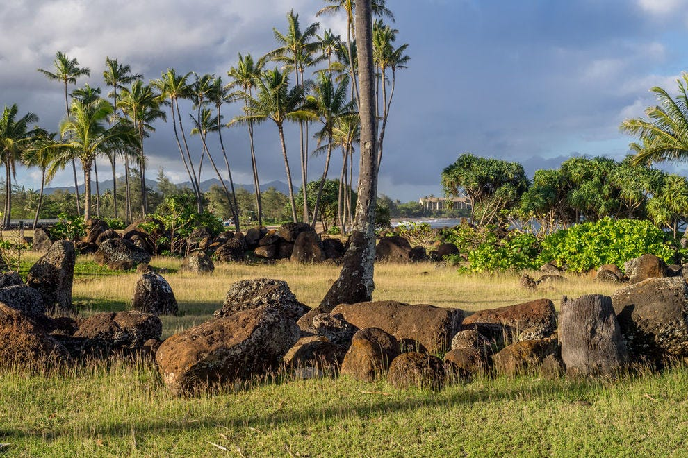 Ancient Hawaiian temple near Wailua