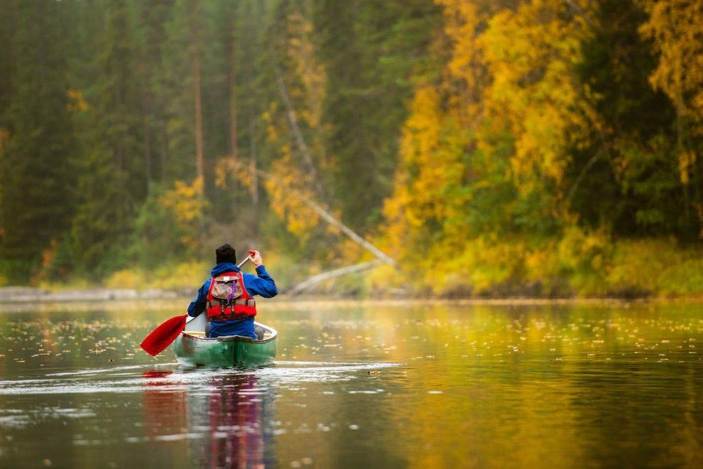 Canoeing on Byske river