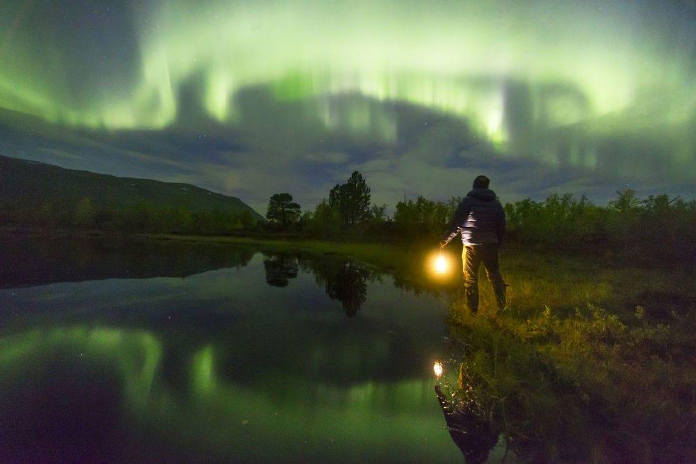 Northern lights over Abisko, Kiruna