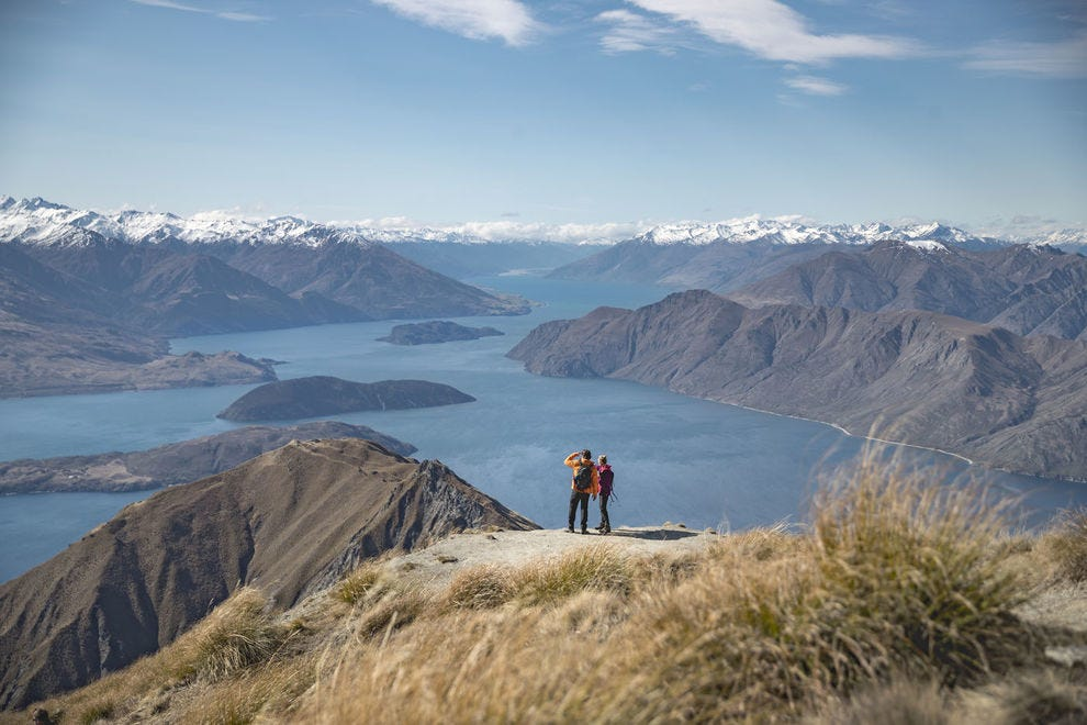 View of Lake Wanaka from the Roy's Peak Track