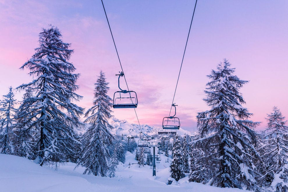 Chairlift in Slovenia