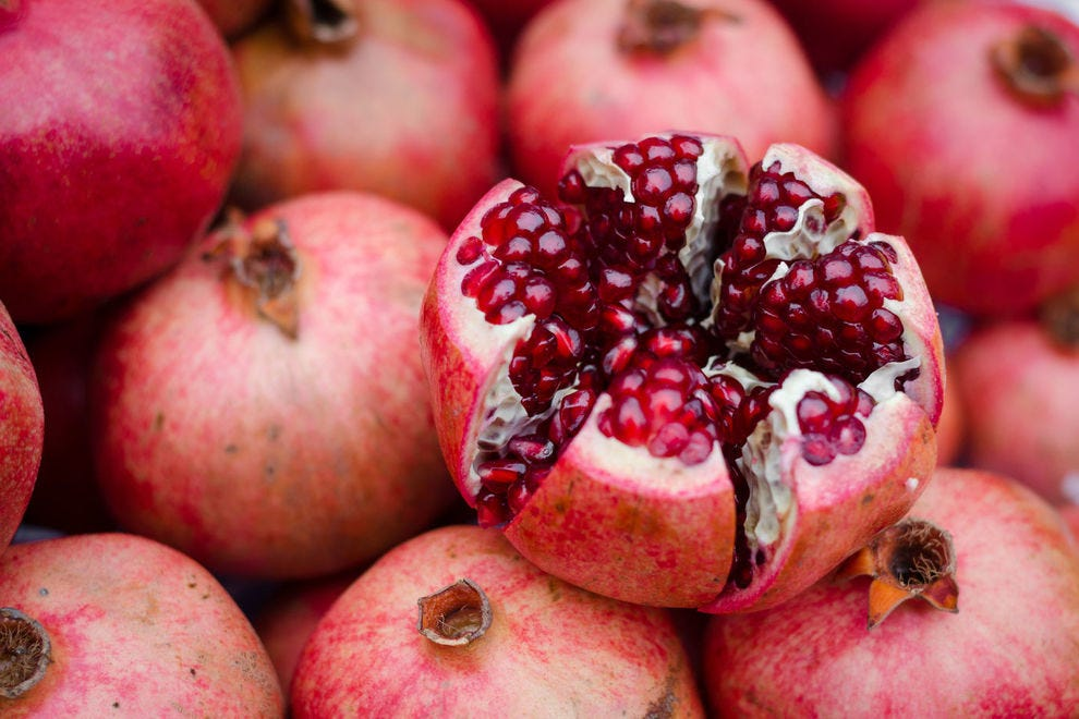 The plentiful seeds of the pomegranate have led many to believe that the fruit brings with it abundance and fertility