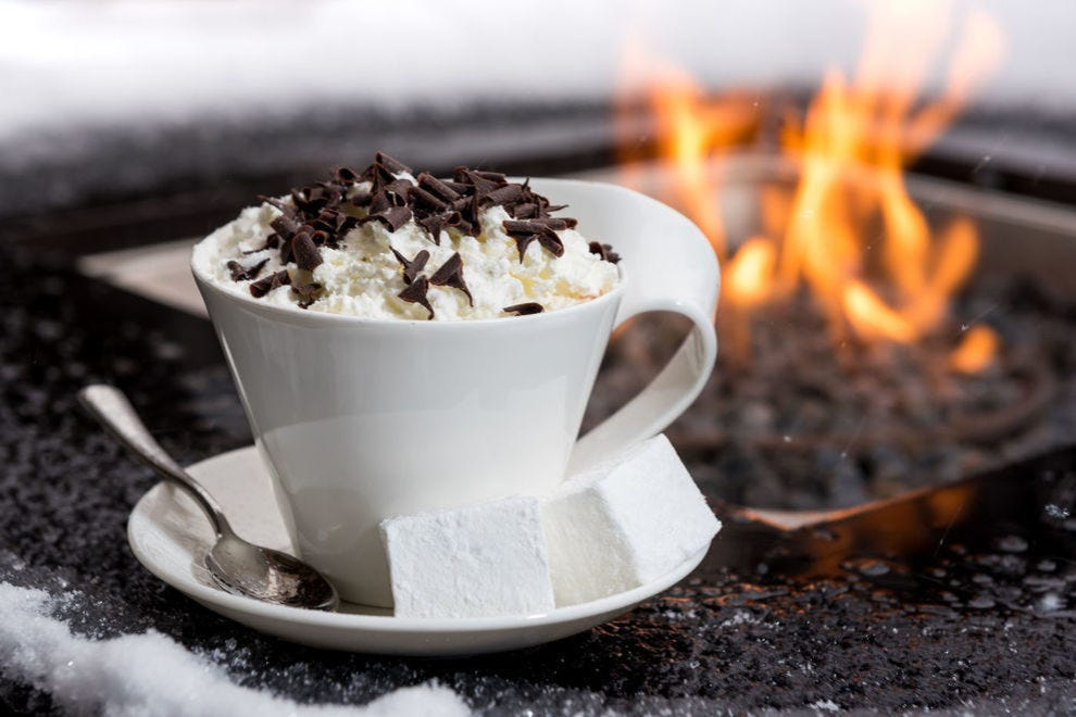 Is there anything cozier than cuddling up next to the fire with a hot chocolate?