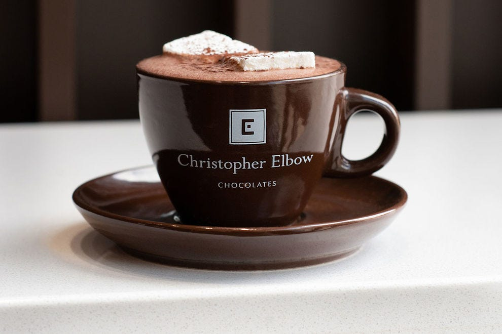 Christopher Elbow is a hot chocolate destination
