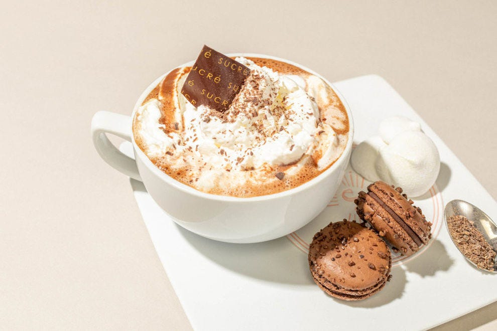 Sucré's Parisian hot chocolate pairs perfectly with their French-inspired pastries