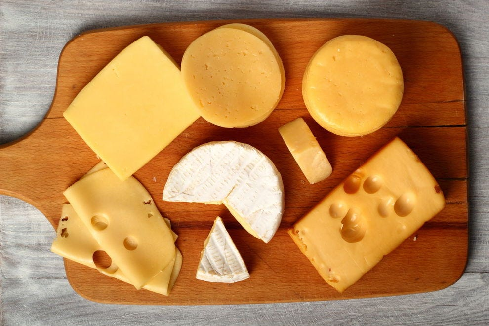 Assortment of cheddar cheeses