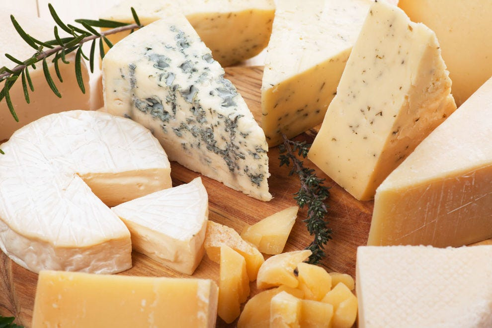 A cheese board with more adventurous cheeses
