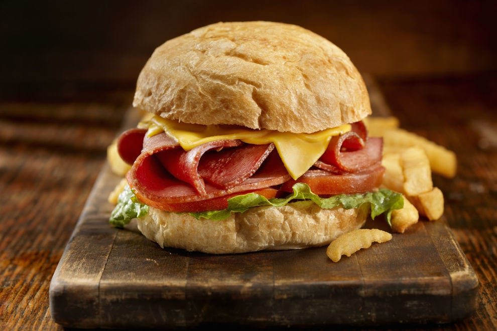 Up your game with a fried bologna sandwich