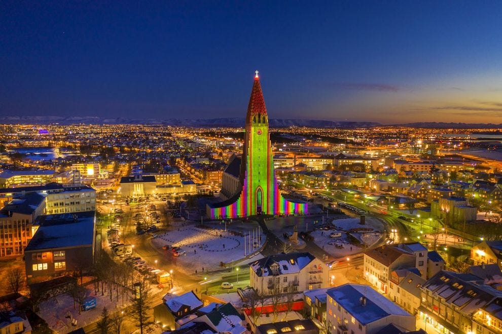 Reykjavik lit up for Winter Lights