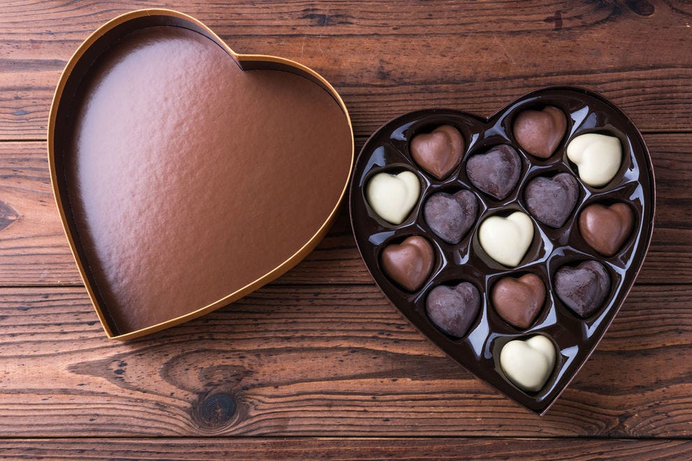 Does chocolate taste better when it comes out of heart-shaped box?