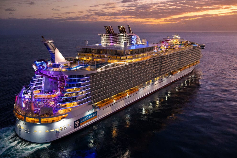 The biggest ships carry over 6,000 passengers