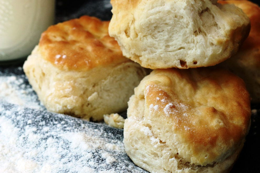 Your buttery biscuits will get a deeper flavor when you add your sourdough starter