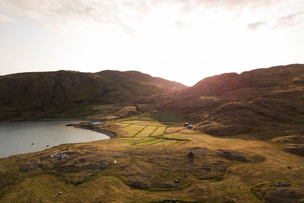 Innerulaalik sheep farm at sunset