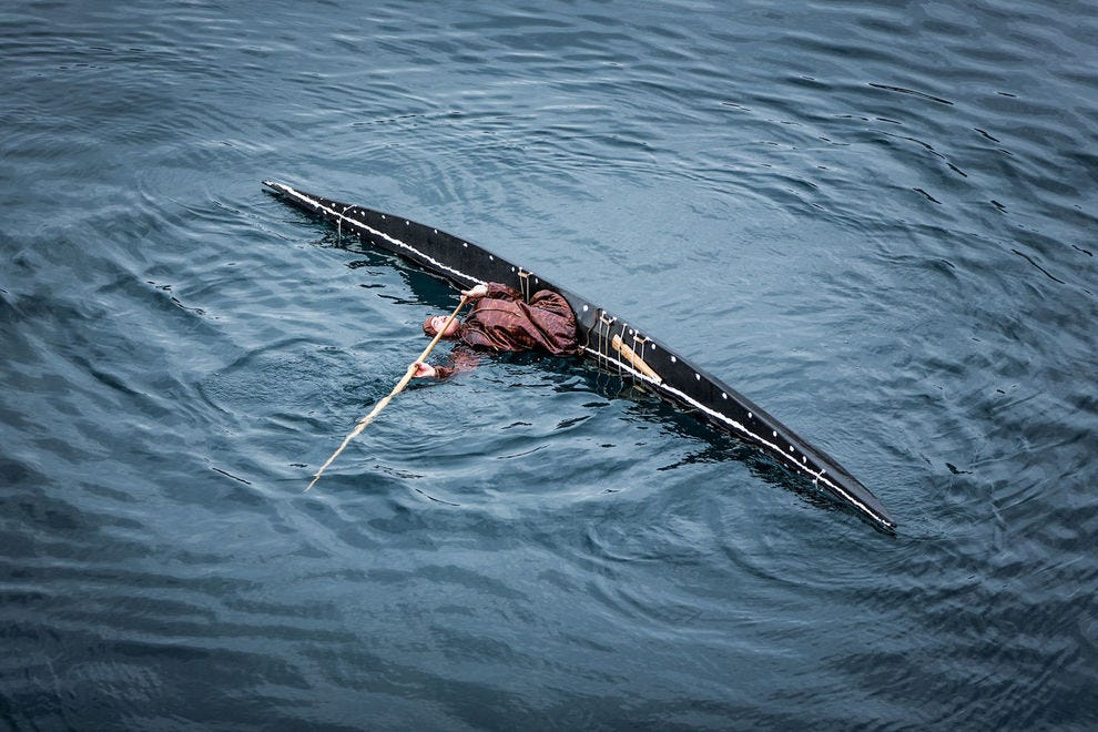 Greenlandic kayaker from Sisimiut