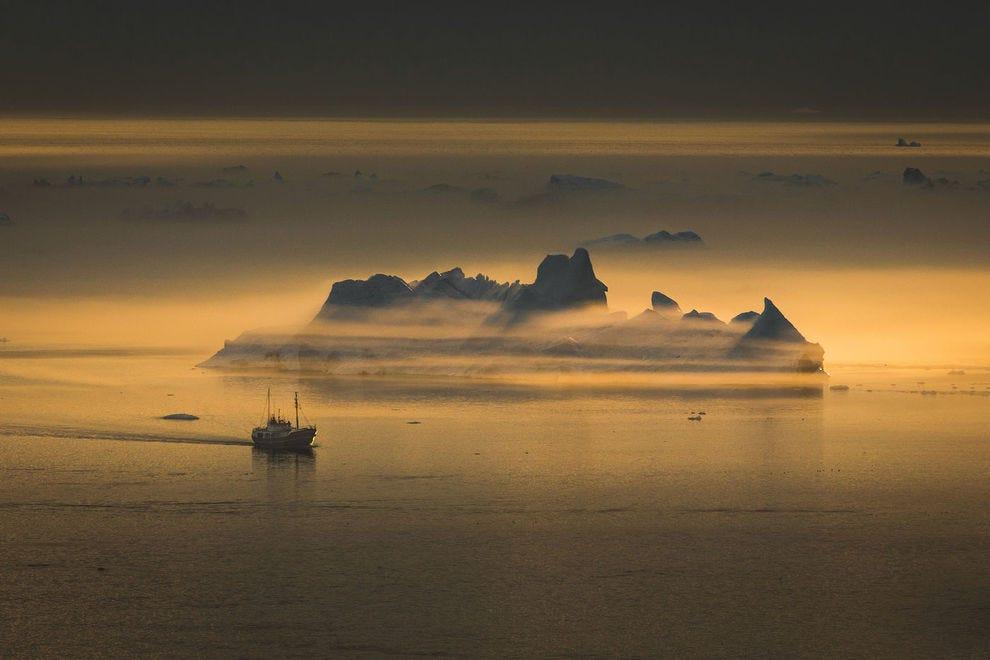 Ilulissat ice fjord in Greenland
