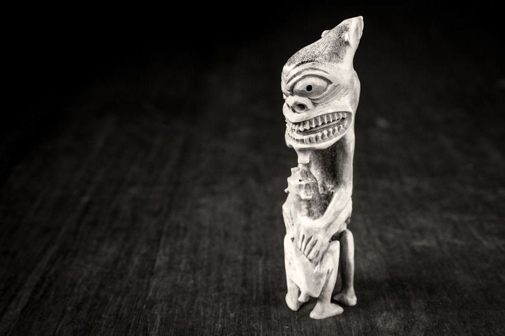 East Greenland bone carving