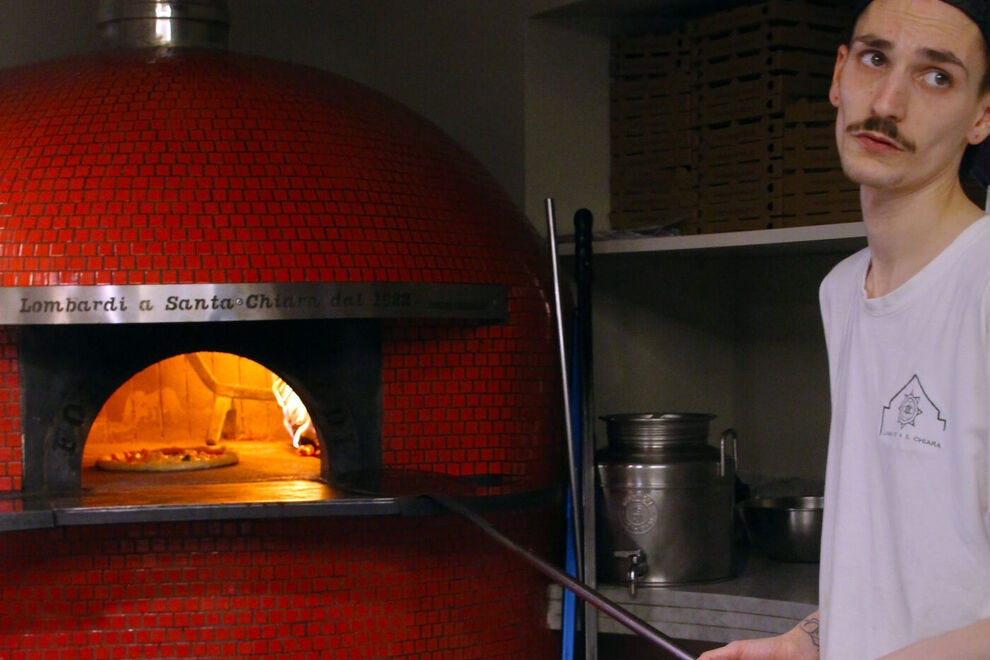 A typical Neapolitan pizza oven