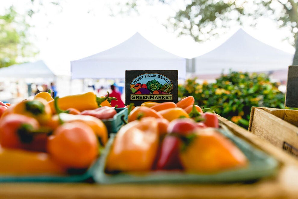 Grab fresh produce at the West Palm Beach GreenMarket