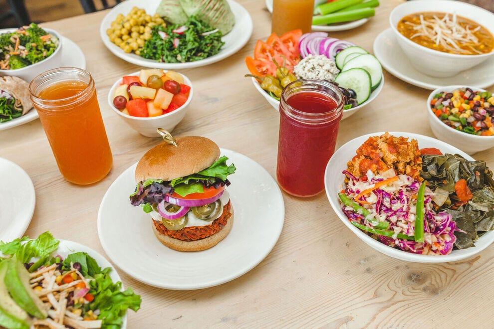 The Sunflower Cafe has a large menu of tasty vegan food