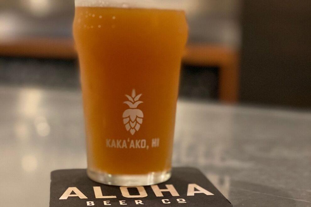 Glass of beer at Aloha Beer Company
