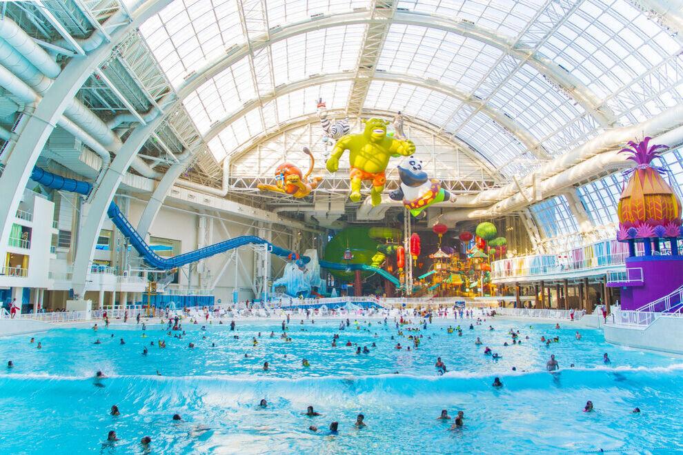 El parque acuático DreamWorks es el parque acuático cubierto más grande de América del Norte