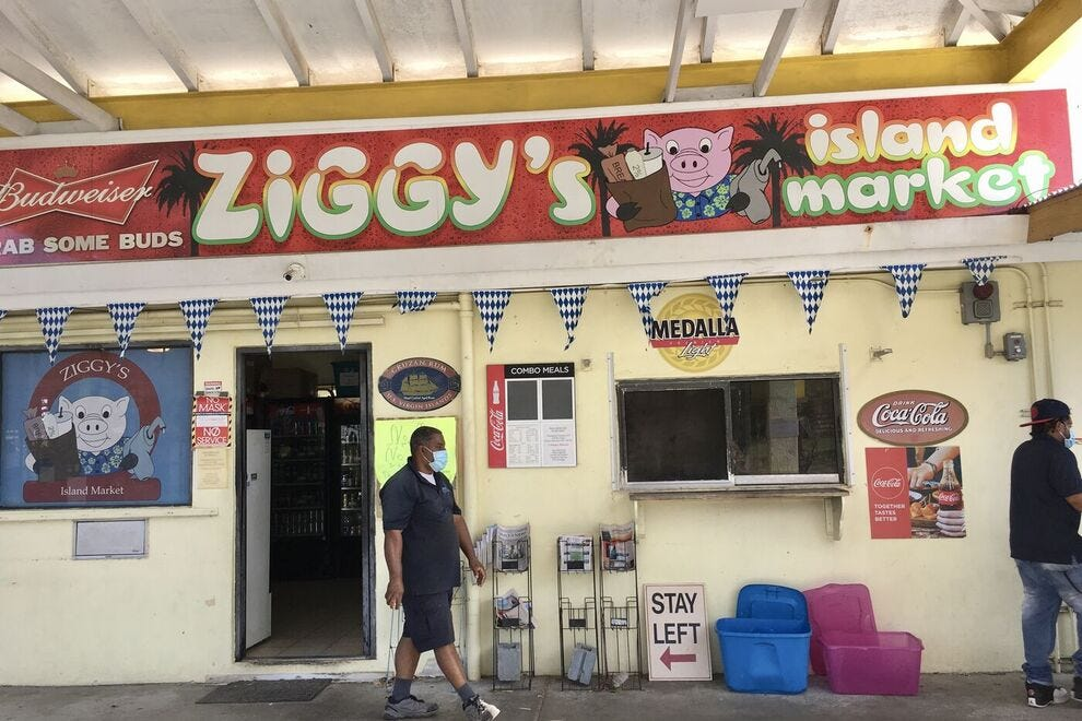 Gas station / convenience store decor hides Ziggy's culinary potential