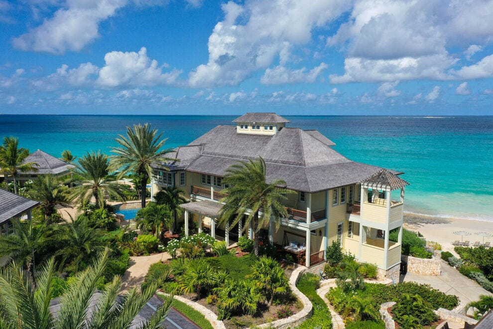 Once a personal residence, Santosha Villa Estate on Anguilla's tranquil east coast sleeps up to 21 people