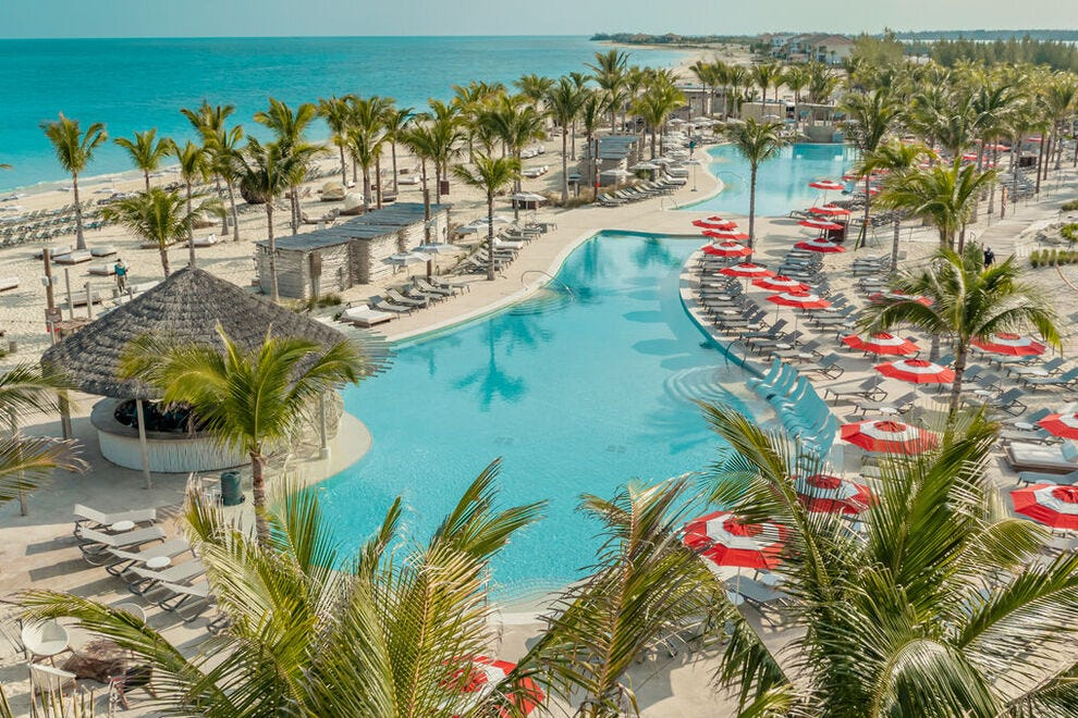 In The Bahamas, Resorts World Bimini invites with a freshwater lagoon-style pool and uninterrupted views of the Caribbean Sea