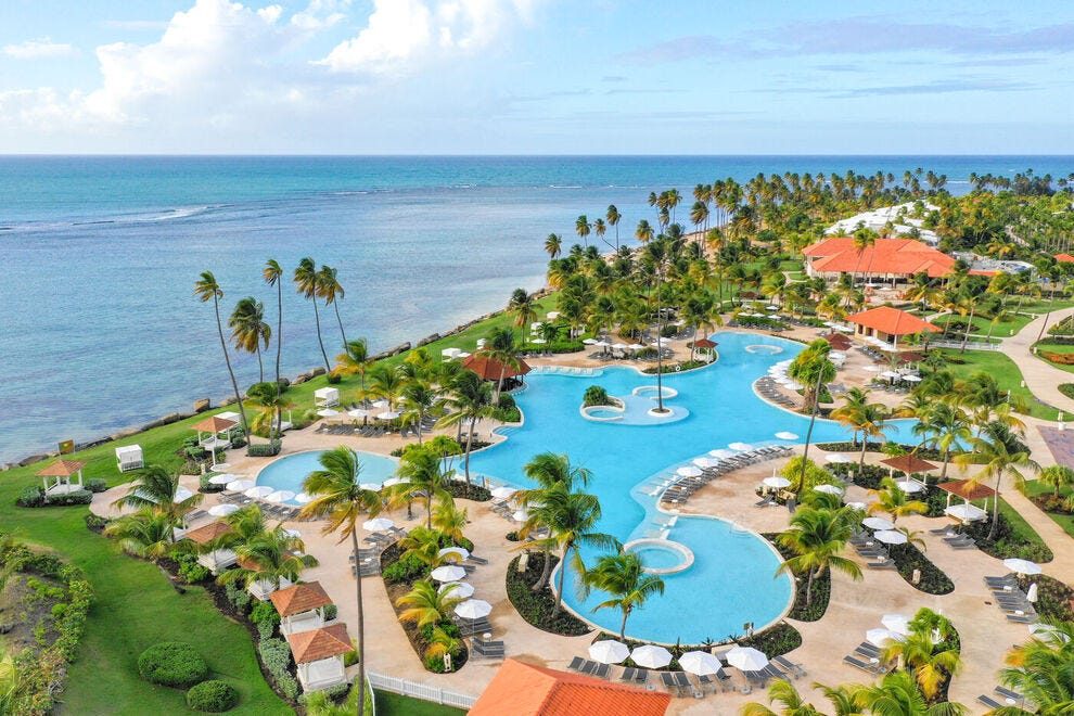 Hyatt Grand Reserve Puerto Rico is home to the largest lagoon-style pool on the island clocking in at 25,037 square feet