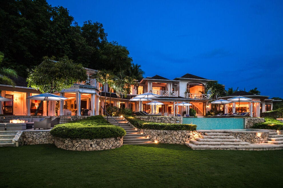 Villa 20 at Round Hill Hotel and Villas measures 8,850 square feet and is the largest of three Premium Luxury Villas